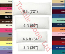"""Long Bolster Pillow 54"""" with FREE Case Maternity Pregnancy Nursing Double Size"""