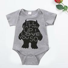 Newborn Baby Boy Girl Short Sleeve Romper Babysuit One Piece Clothing Set Outfit