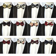 Men Fashion Paisley Floral Adjustable Bow Tie Wedding Party Prom Bowtie NEW