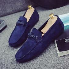 Mens Fashion Faux Suede Leather Loafers Slip on Driving Moccasins Casual Shoes