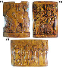Egyptian Wall Hanging Plaque King Tut Cleopatra Decor Pharaoh Hand engraved 3D