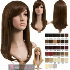 NEW NATURAL LOOK SIDE FRINGE STRAIGHT LONG HIGH QUALITY SYNTHETIC WIG NATALIE