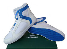 LACOSTE MENS TRAINERS, SHOES, PIPELINER HI TOP SPM UK 6.5 to 11 WHITE