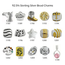 925 Sterling Silver Charm Beads for European Charms Bracelet Necklace 20-1205