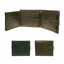 Mens Small Luxury Multi Compartment Credit Card Holder Real Leather Wallet 6011
