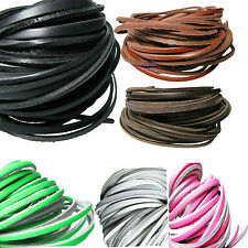 Genuine Leather Lace Shoe Lace Leather Thonging Jewellery Making 1 Metre Lot