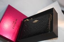 COACH F64652 LEATHER ZIP WRISTLET WALLET IN GIFT BOX NWT **Free Shipping**