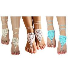 Sexy Barefoot Beach Sandals Crochet Anklet Beach Wedding,Yoga Shoes Foot Jewelry
