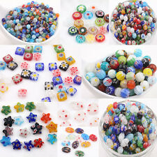 20/50Pcs Multi-Color Mixed Assorted Shape Glass Craft Beads Loose Spacer Bead