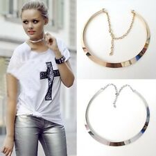 Promotion 1 like punk curved metal mirrored choker collar bib necklace Hot