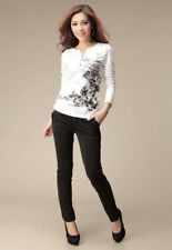 Women Clothes T Shirt V Neck Graphic Tees Womens Long Sleeve Tops Casual