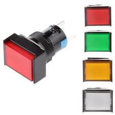 DC12V LED Light Push Button Momentary Switch Self Locking Square Switch 5-Pin