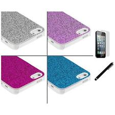Glitter Bling Sparkly Ultra Thin Case Cover+LCD Film+Stylus for iPhone 5 5S