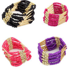 Womens Fashion Beaded Bangle Jewelry Bracelet Multilayer New Bohemian Bracelet