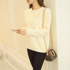 Women Sweaters And Pullovers Long Sleeve Slim Sweater Tops Knitted Pullover