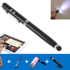 LED Laser Pointer Torch Touch Screen Stylus Ball Point Pen for iPhone iPad iPod