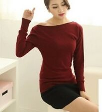 Women Strapless Sweater 100% Cashmere Sweater Spring And Autumn Basic Pullover