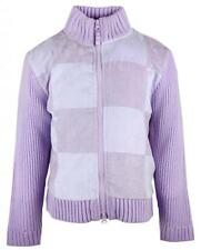 Girls Jacket Zip Patchwork Winter Knitted Cardigan Top Ex Chainstore 3-10 Years