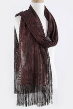 Scarf Winter Women Shiny Scarf Sequin Shawl Wrap Long Tassel Sparkling Wrap NEW