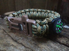 5 in 1 Genuine Paracord 550 MilSpec III Survival Bracelet