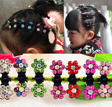 Pin Sweet Hair HOT Rhinestone Clips 6pcs Claws Girls Mini Crystal Flower Clamps