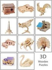 3D Wooden Puzzle Jigsaw Woodcraft Modelling Puzzle Toy Kit Gift DIY Construction