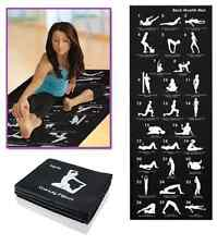 Yoga Mat Fitness Exercise Back healthy Gym Physio Pilates Soft Mats Whit Carrier