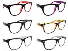 Two Tone Fashion Retro Unisex Men Women's Clear Lens Glasses Nerd Geek Eyewear