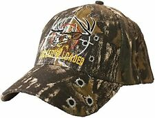 Locked & Loaded Hunting Style Army Camouflage Baseball Hat Cap, Embroidered Deer