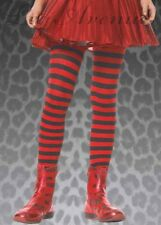 Childrens Black and Red Striped Tights