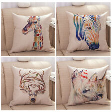 18'' Colorful Giraffe Zebra Deer Pattern Throw Pillow Cases Home Cushion Covers