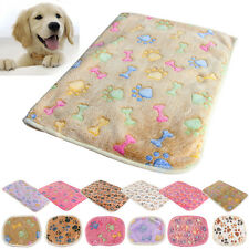 Pet Small Large Paw Print Soft Blanket Bed Cushion Coral cashmere Cat Dog Puppy
