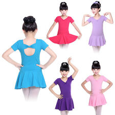 Kid Girls Ballet Dress Tutus Leotards Dancewear Back Bowknot Costume Skirt Dance