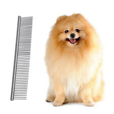 Pet Dog Cat Hair Fur Shedding Grooming Trimmer Flea Stainless Steel Comb Brush .