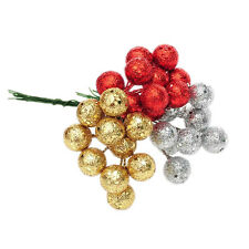 XMAS Pine Baubles Fruit Hanging Christmas Tree Decorations Party Ornaments  LE