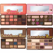 Too Faced Chocolate Bar Semi Sweet Peach Eyeshadow Palette colors face Makeup
