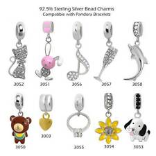 Sterling Silver Charm Beads for European Charms Bracelets Necklaces Dangle #552