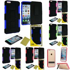 For Apple iPhone 6/6S [4.7] Heavy Duty Rugged Stand Belt Clip Holster Case Cover