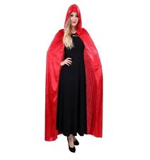 Cape Cloak Long Robe Vampire Witch Wizard Fancy Dress Costume Cosplay Party