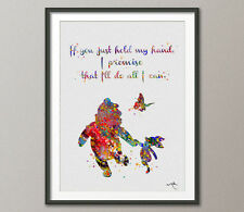 Winnie the Pooh with Piglet Quote Watercolor illustrations Art Print Wall Art 6