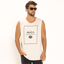 RVCA Detour Muscle Tank in Blue