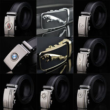 Fashion Casual Luxury Genuine Leather Automatic Buckle Mens Belt Waistband Strap