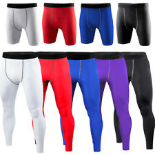 New Mens COMPRESSION Base Layer Pants or Shorts Tight Under Skin Sports Gear