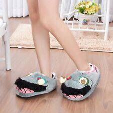 Novelty Unisex Warm Winter Slippers Zombie Plush Shoes Adult Shoes Halloween GC