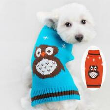 Pet Dog Doggie Turtleneck Sweater Clothes Apparel with Owl Pattern Size XS-M