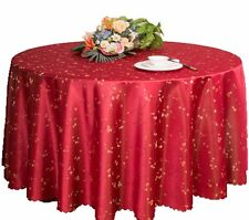 """New 60""""-120'' Round Polyester Floral Tablecloth Wedding Prom Banquet Table Cover"""