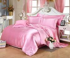 800 1000 1200 TC Pink Color  Satin Silk Super Soft Solid Bedding Scala Brand