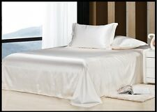 800 1000 1200 TC Ivory Color Satin Silk Super Soft Solid Bedding Scala Brand