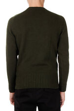 ALEXANDER MCQUEEN Man Wool Crew Neck Sweater with Star Detail Made in Italy