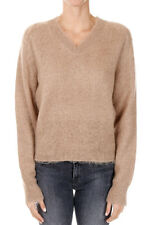 JIL SANDER New woman Beige Mohair blend Sweater Pullover Made in Italy
